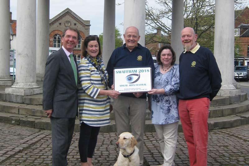 Swaffham Visual Arts festival Chairman, Rotary President and Festival Sponsor